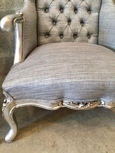 Load image into Gallery viewer, French Silver Chair Antique Furniture French Louis XVI Easy-Chairs Bergere Fauteuil Wingback Chair Tufted Chair Baroque Furniture Rococo