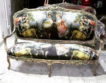Load image into Gallery viewer, French Settee French Chair Louis XVI Furniture *3 Pieces Available* French New Padding Interior Design Antique Furniture French Sofa
