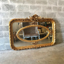 "Load image into Gallery viewer, French Mirror *2 Available* Antique 61""W x 44.5W French Furniture Baroque Mirror Rococo Gold Mirror Antique Mirror Gold Leaf Mirror Antique"