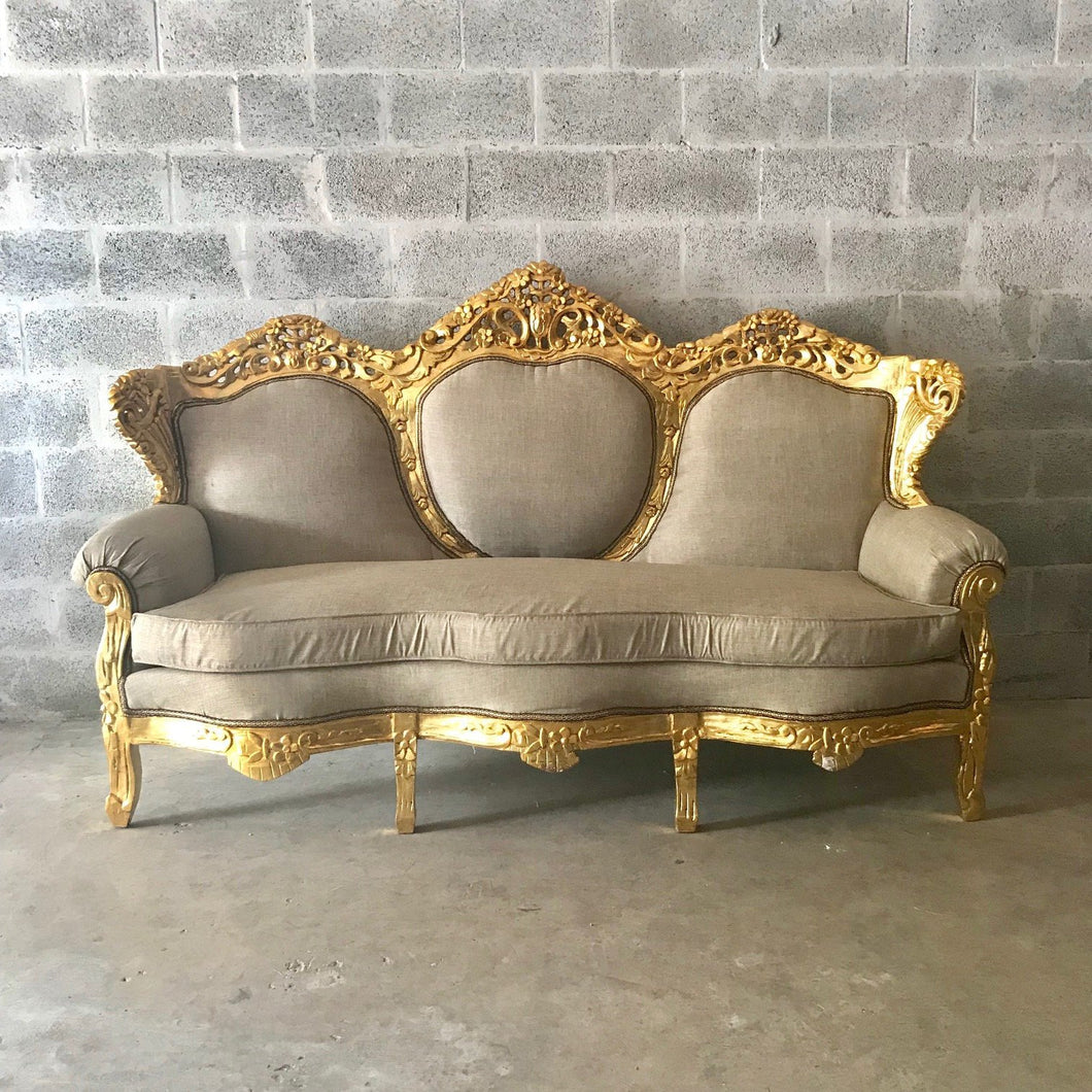 French Settee French Sofa Furniture Antique Furniture French Gold Leaf New Padding Interior Design Baroque Sofa Furniture Rococo Sofa
