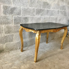 Load image into Gallery viewer, Baroque Coffee Table Black Marble Table French Table Rococo Table Baroque Table French Furniture Table Antique Furniture Gold Coffee Table