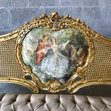 Load image into Gallery viewer, French Settee French Louis XVI Settee *3 Piece Set Available* French Furniture Tufted Chair Vintage Furniture Interior Design