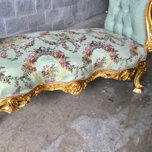 Load image into Gallery viewer, French Marquis Antique Bench Furniture Marquise French Tufted Chair Refinish Gold Leaf New Padding tufted Fabric Interior Design