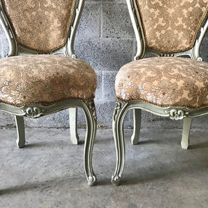 French Chair Antique Dining Chair (Set of 2) New Upholstery Original Frame Color Baroque Furniture Rococo Chair Interior Design Chair