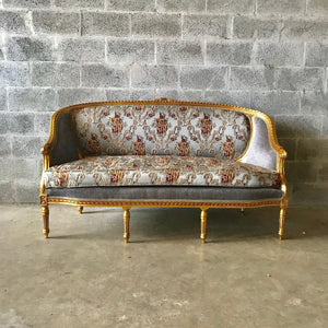 French Chairs French Furniture Settee *3 Piece Set* Chairs French Sofa Furniture French Corbeille Chair Refinish Gold Leaf Interior Design