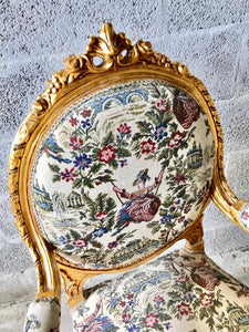 French Chairs French Furniture *2 Chairs Available* Antique Chair Furniture French Tufted Chair Refinish Gold Leaf Tufted Chair Rococo Chair