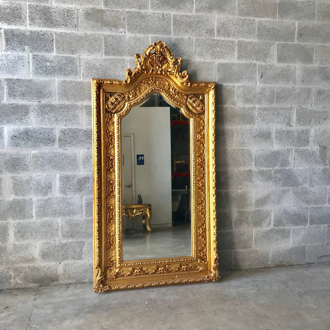 French Mirror Gold Antique Curved Mirror French Furniture 84