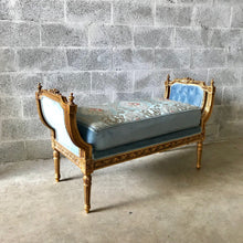 Load image into Gallery viewer, French Chair French Tufted Bench Louis XVI Furniture French Bench Gold Frame Tufted Chair Rococo Furniture Baroque Interior Design
