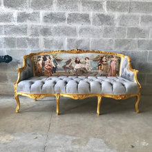 Load image into Gallery viewer, Baroque Throne Sofa Baroque Chair Marquise Furniture Rococo Velvet Tufted Gold Frame Interior Design