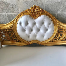 Load image into Gallery viewer, French Marquise French Furniture Baroque Furniture Rococo Settee French Tufted Settee White Leather Interior Design