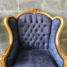 Load image into Gallery viewer, Italian Baroque Throne Chair Tufted Upholstery *2 Avail* Velvet French Furniture French Chair Rococo Furniture Interior Design Tufted Chair