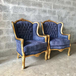 Italian Baroque Throne Chair Tufted Upholstery *2 Avail* Velvet French Furniture French Chair Rococo Furniture Interior Design Tufted Chair