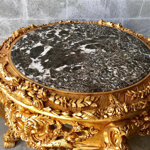 "Baroque Center Table Rococo Table Vintage Table *Heavy Wood* 56"" Diameter x 36""H French Antique French Table Interior Design"