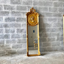 Load image into Gallery viewer, Baroque Mirror Antique Mirror Rococo Gold Leaf French Mirror Floor Woman Face Mirror Interior Design *1 Available*