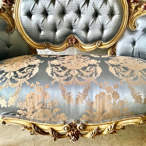 French Marquis French Sofa Corbeille Louis XVI Furniture French Settee Cream Beige Frame Marquis French Marquise Settee Interior Design