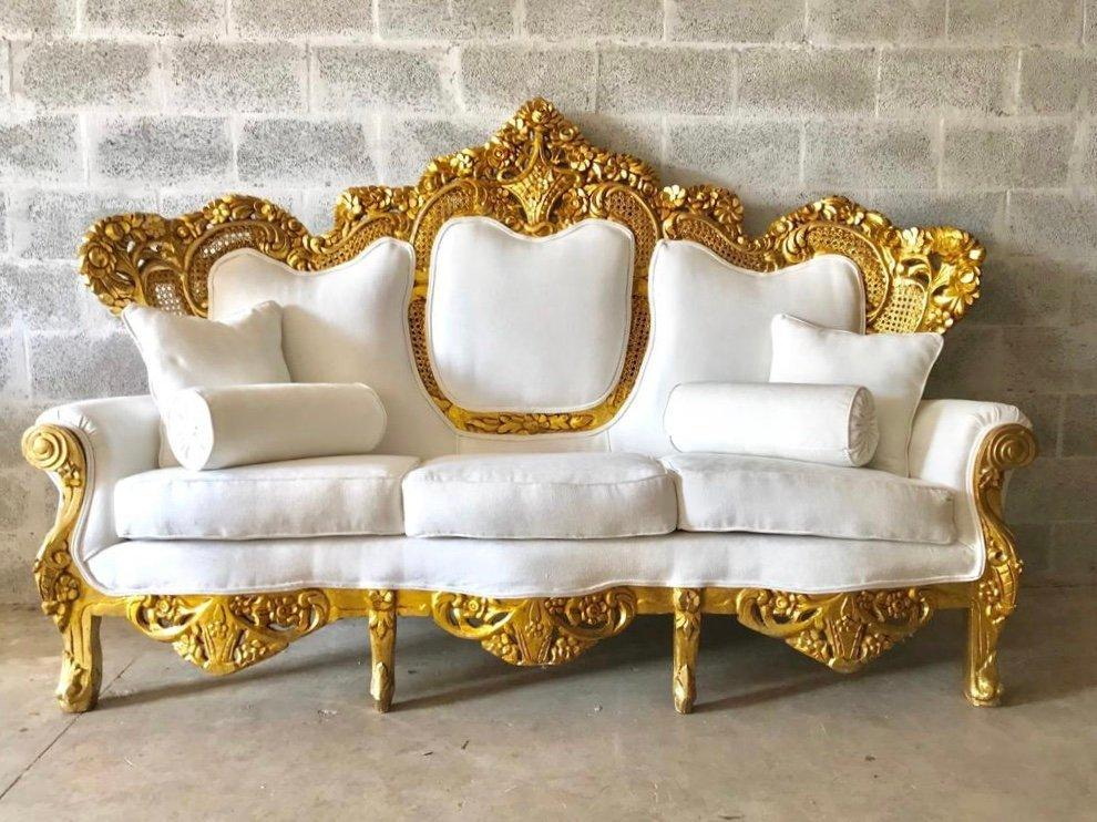 Baroque Sofa Throne Furniture Rococo Sofa French Furniture Throne Settee New Upholstery Interior Design *Fast Delivery