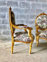 Load image into Gallery viewer, French Chairs French Furniture *2 Chairs Available* Antique Chair Furniture French Tufted Chair Refinish Gold Leaf Tufted Chair Rococo Chair