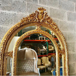 "French Mirror 7 Feet Large Mirror 84""H x 44""W French Furniture Floor Mirror Baroque Mirror Rococo Gold Mirror Antique Mirror Rococo Mirror"