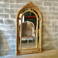 "Load image into Gallery viewer, French Mirror 7 Feet Large Mirror 84""H x 44""W French Furniture Floor Mirror Baroque Mirror Rococo Gold Mirror Antique Mirror Rococo Mirror"