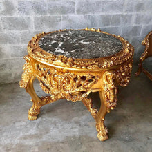"Load image into Gallery viewer, Baroque Center Table Rococo Table Vintage Table *Heavy Wood* 56"" Diameter x 36""H French Antique French Table Interior Design"