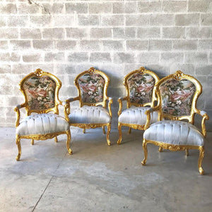 French Chair Antique French Settee 5 Piece Available Vintage Furniture Tufted Chair French Tufted Settee Refinish New Fabric Interior Design