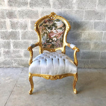 Load image into Gallery viewer, French Chair Antique French Settee 5 Piece Available Vintage Furniture Tufted Chair French Tufted Settee Refinish New Fabric Interior Design
