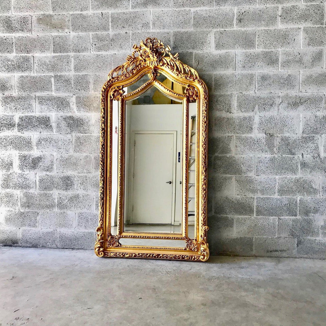 French Mirror Gold Antique Floor Mirror Carved French Furniture 82