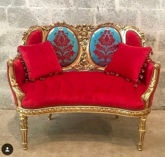 French Settee French Bench Small Louis XVI Style Furniture French Tufted Refinish Gold Leaf New Padding Interior Design