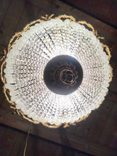 "Load image into Gallery viewer, Crystal Chandelier 24""H x 20"" Diameter French Basket French Chandelier Gilded Bronze Empire Bowl Interior Design"