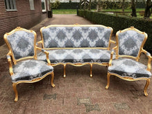 Load image into Gallery viewer, French Furniture French Vintage Chair *3 Piece Set* Antique Furniture New Upholstery Interior Design Baroque Furniture Rococo French Chair