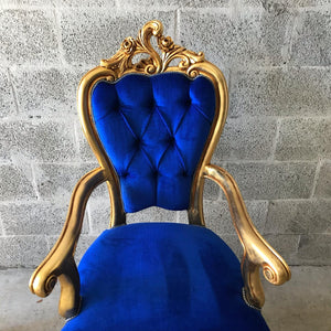 French Dining Chair *Set of 8* Antique Chair French Furniture Italian Baroque French Furniture Blue Velvet French Chair Interior Design