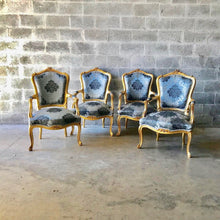 Load image into Gallery viewer, French Furniture French Vintage Chair *5 Piece Set* Antique Furniture New Upholstery Interior Design Baroque Furniture Rococo French Chair