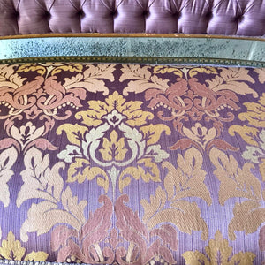 French Settee French Sofa Louis XVI Style Purple Settee Furniture Gold Frame Rococo Furniture Baroque Settee Interior Design Tufted Settee