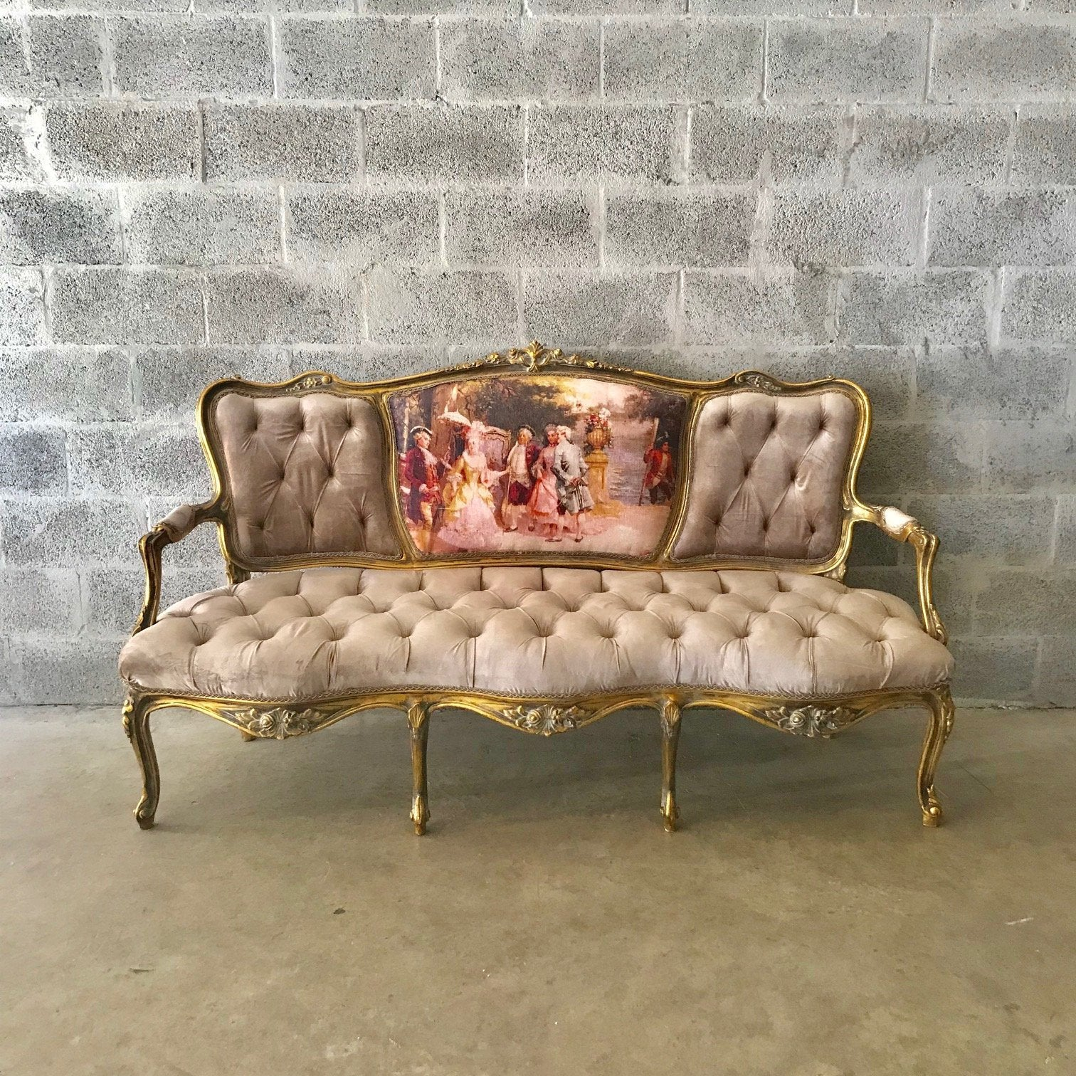 French Furniture French Settee Vintage Sofa Antique Furniture New Upho