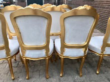Load image into Gallery viewer, French Dining Chairs *Set of 10* Antique Chair Vintage Furniture French Italian Baroque Off-White Velvet Dining French Chair Interior Design