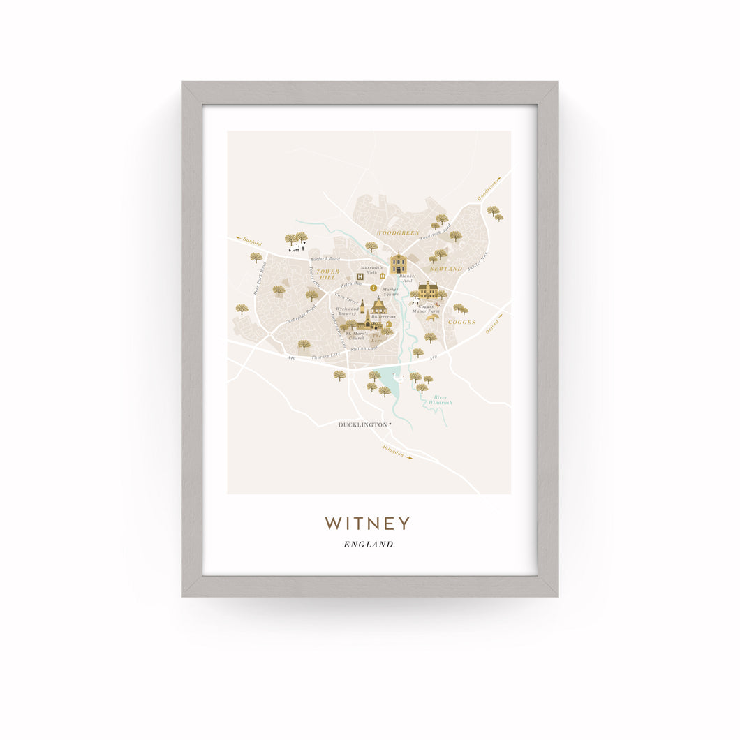 WITNEY MAP PRINT (FRAMED)