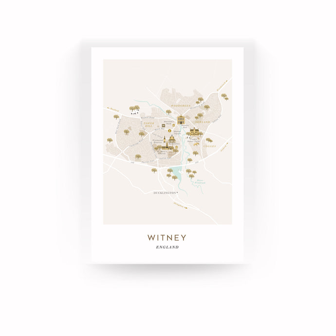 WITNEY MAP PRINT (UNFRAMED)