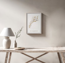Load image into Gallery viewer, COTSWOLDS MAP PRINT (FRAMED)