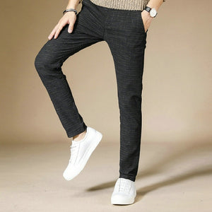 Business Casual Men Pants Cotton