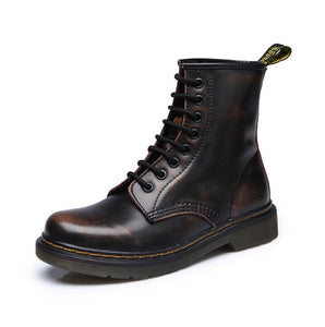 Leather Boots - Dr Boots shoes High Top Motorcycle