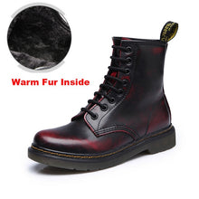 Load image into Gallery viewer, Leather Boots - Dr Boots shoes High Top Motorcycle