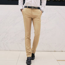 Load image into Gallery viewer, Cotton Solid Color Suit Pants
