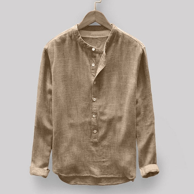 Long Sleeve Linen And Cotton Long Sleeve