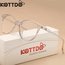 Load image into Gallery viewer, KOTTDO Transparent Cat Eye Glasses