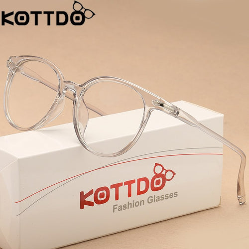KOTTDO Transparent Cat Eye Glasses