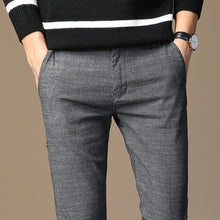 Load image into Gallery viewer, MRMT Men Striped Micro Elastic Straight Trousers