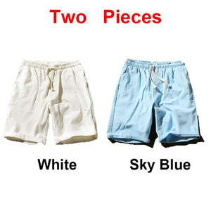Sinicism Colorful Cotton Linen Summer Shorts