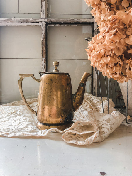 Vintage Tarnished Teapot