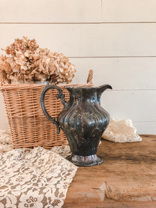 Vintage Tarnished Metal Pitcher