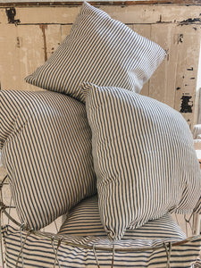 Square Ticking Stripe Pillow